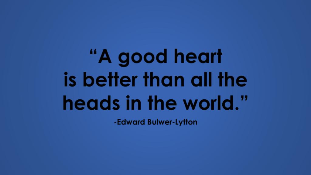 edward bulwer-lytton good heart