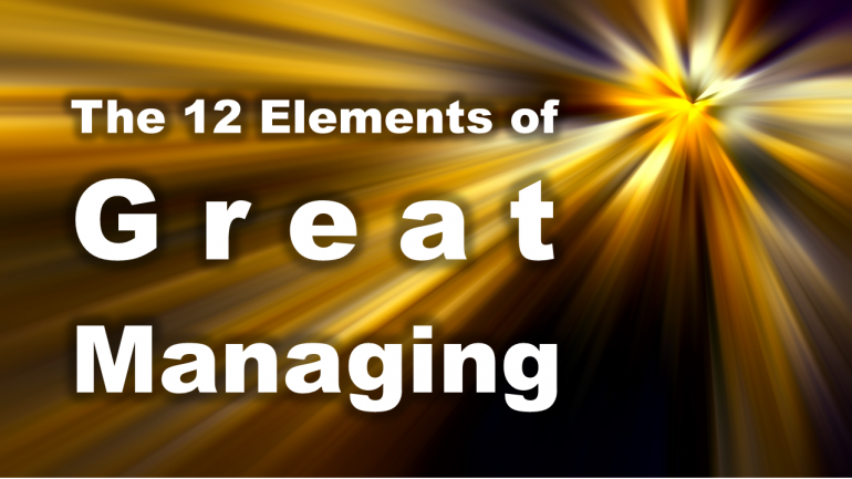 the 12 elements of great managing