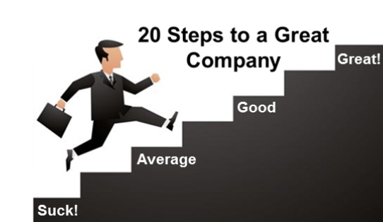 20 steps to a great company