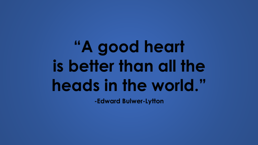 edward bulwer-lytton good heart